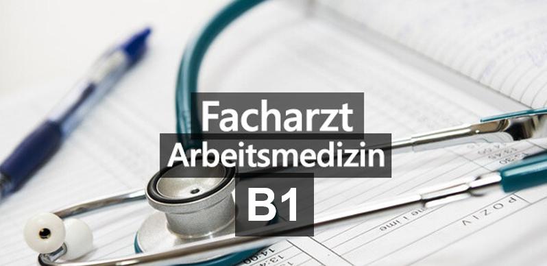 Arbeitsmedizin B1 vom 14.-23.04.2021
